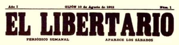 """Capçalera d'""""El Libertario"""""""