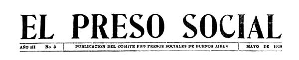 "Capçalera d'""El Preso Social"""
