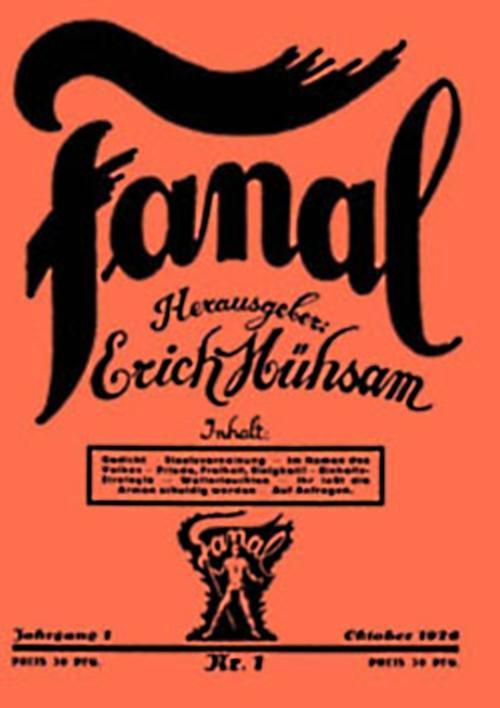 """Portada del primer número de """"Fanal"""""""