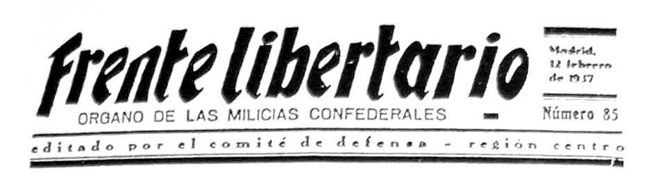 "Capçalera de ""Frente Libertario"""