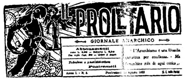 """Cabecera de """"Il Proletario"""""""