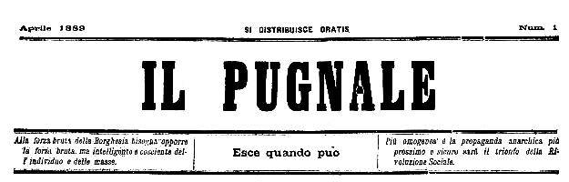 """Capçalera del primer número d'""""Il Pugnale"""""""