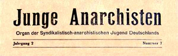"Capçalera de ""Junge Anarchisten"""