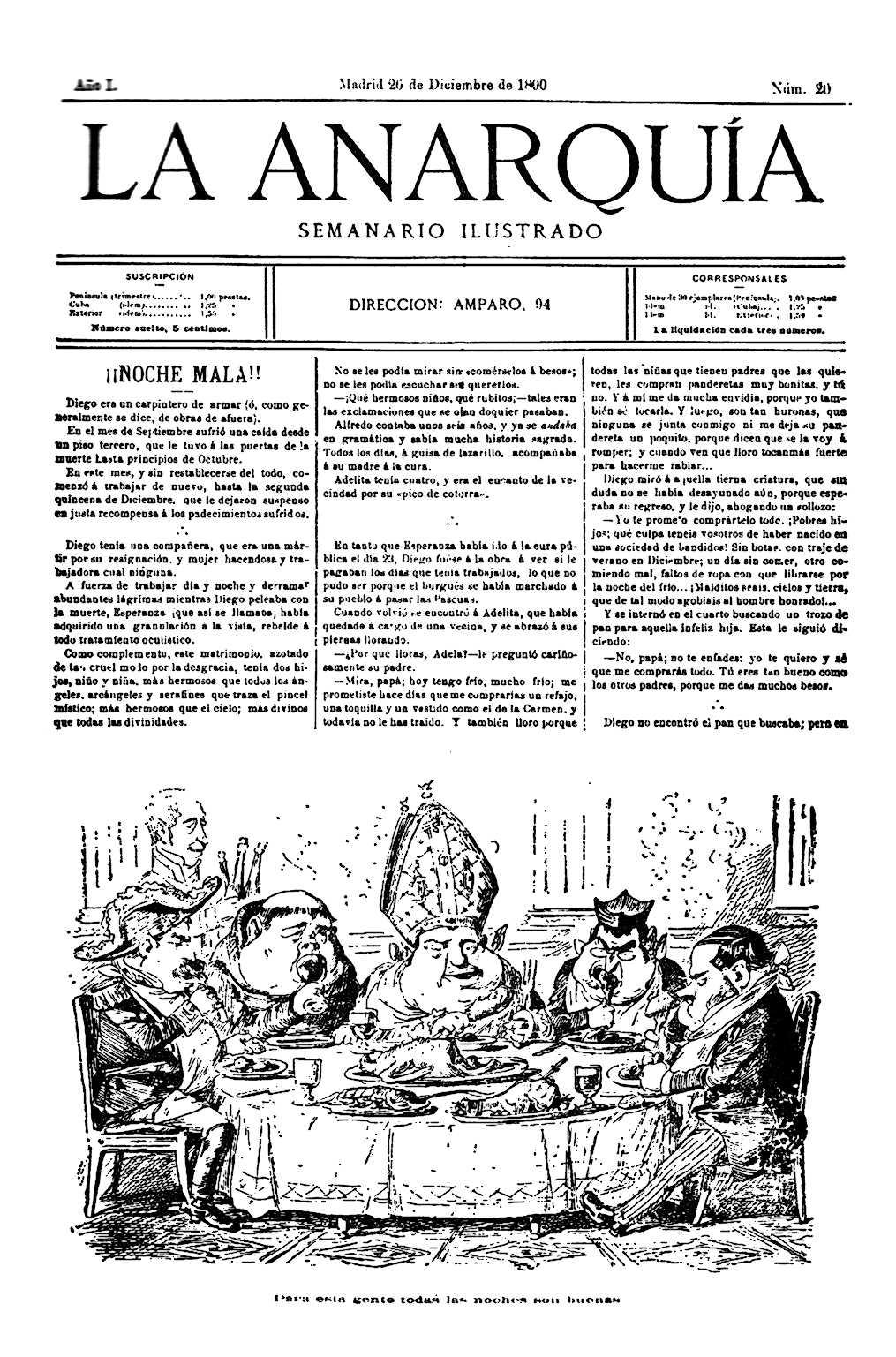 """Portada d'un exemplar de """"La Anarquía"""""""