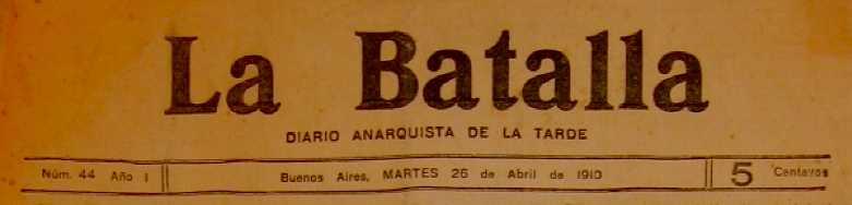 """Capçalera de """"La Batalla"""""""
