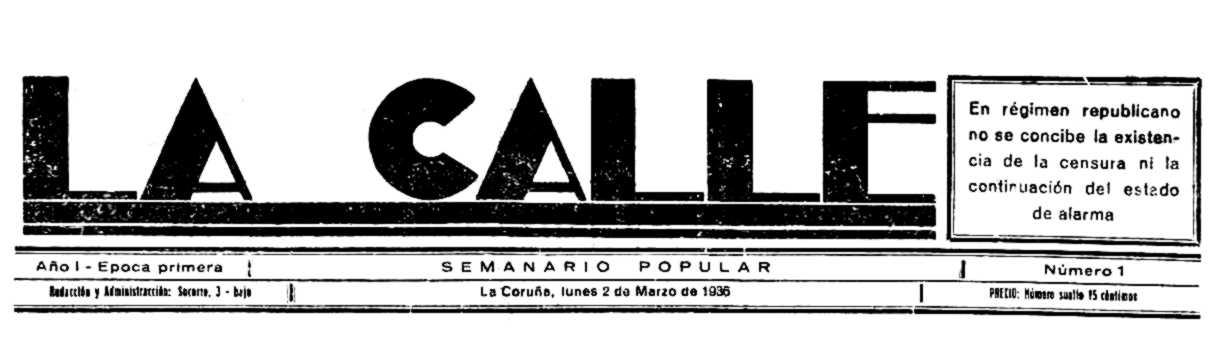 "Capçalera del primer número de ""La Calle"""