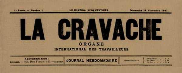 """Capçalera del primer número de """"La Cravache"""""""