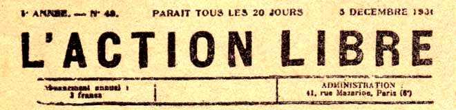 """Capçalera de """"L'Action Libre"""""""