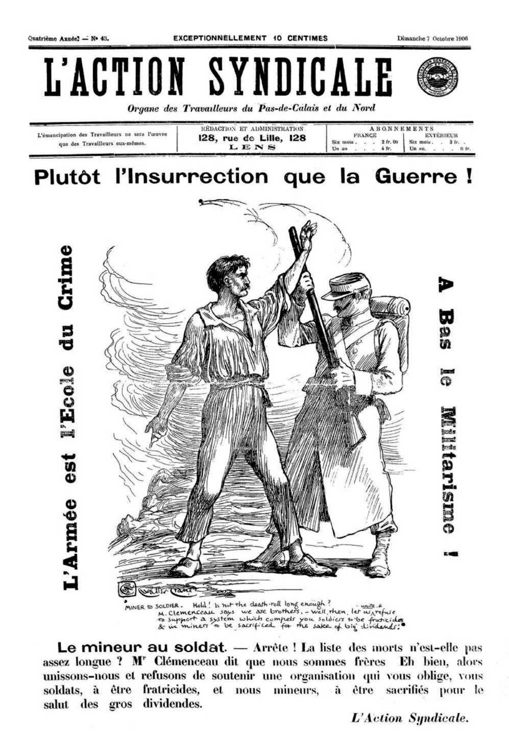 "Portada d'un exemplar de ""L'Action Syndicale"""