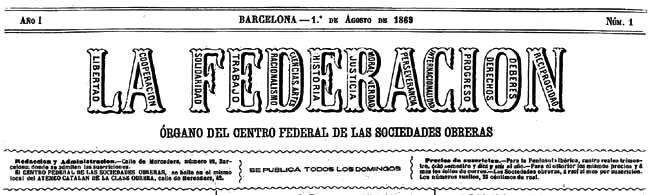 """Capçalera de """"La Federación"""" on es va publicar el manifest"""