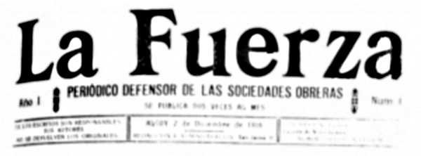 """Cabecera de """"La Fuerza"""""""