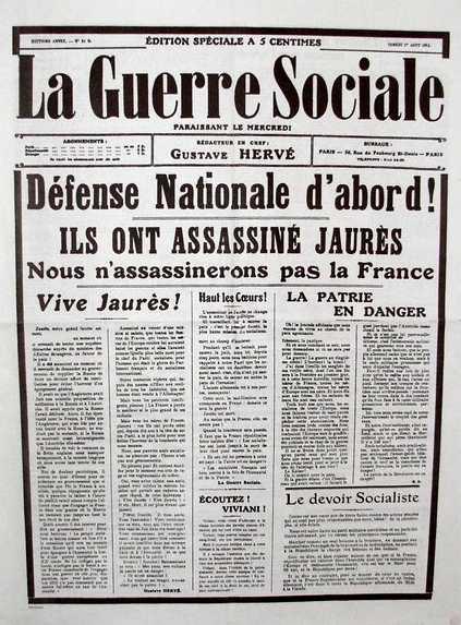 """Un exemplar de """"La Guerre Sociale"""" de 1914 (època ultranacionalista)"""