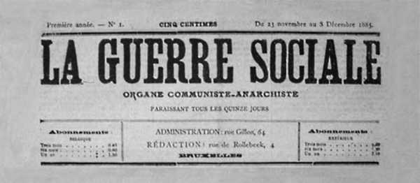 "Capçalera del primer número de ""La Guerre Sociale"""