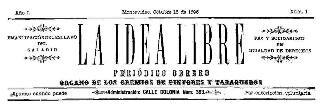 """Capçalera del primer número de """"La Idea Libre"""""""