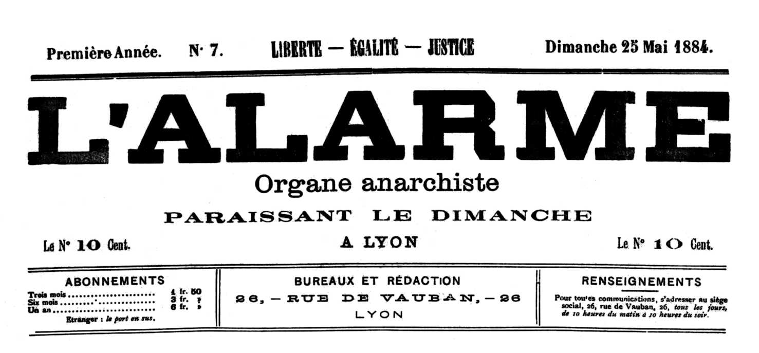 """Capçalera de """"L'Alarme"""""""