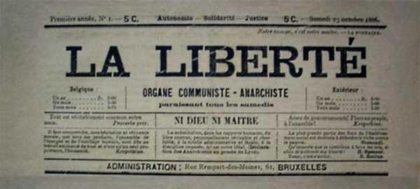 """Capçalera del primer número de """"La Liberté"""""""