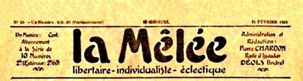 """""""La Mêlée"""", periòdic del qual Ducauroy era gerent"""
