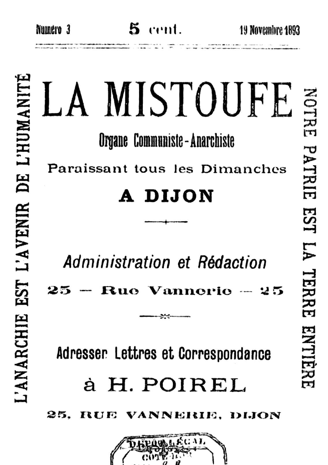 """Portada del número 3 de """"La Mistoufe"""""""