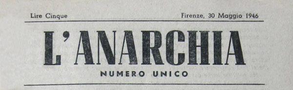 """Capçalera del número únic de """"L'Anarchia"""""""