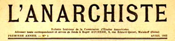 "Capçalera de ""L'Anarchiste"""