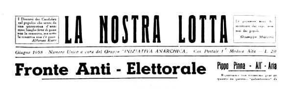 """Capçalera de """"La Nostra Lotta"""""""