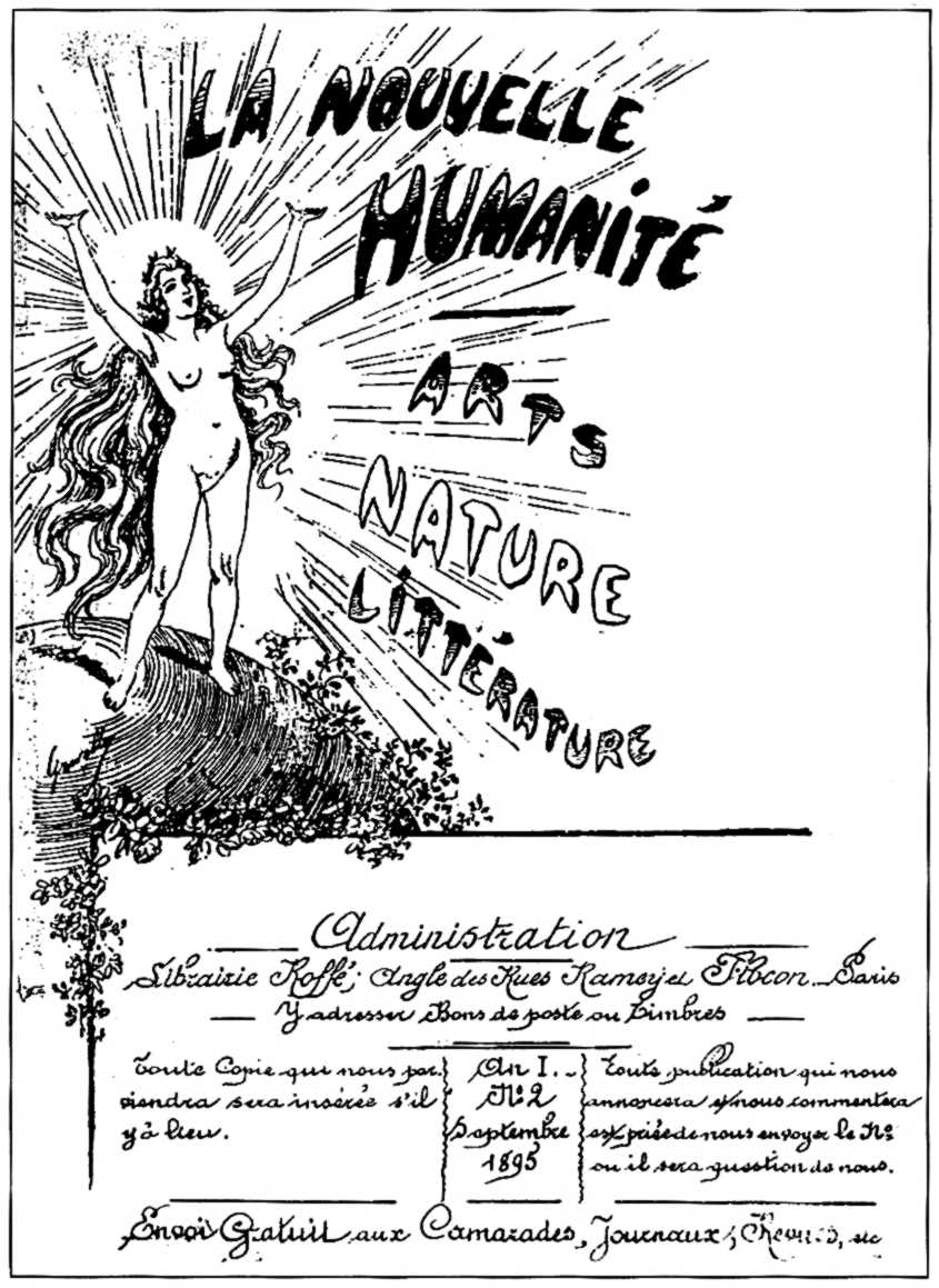 """Portada del segon número de """"La Nouvelle Humanité"""", realitzada per Émile Gravelle"""