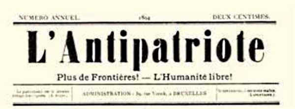 """Cabecera de """"El Antipatriote"""""""