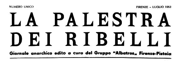 """Capçalera de """"La Palestra dei Ribelli"""""""