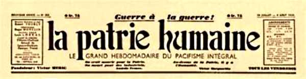 """Capçalera de """"La Patrie Humaine"""""""