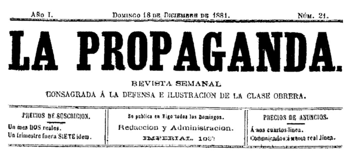 """Capçalera de """"La Propaganda"""""""
