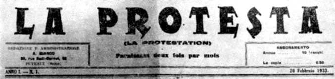 "Capçalera de ""La Protesta"""