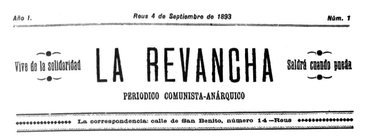 """Capçalera del primer número de """"La Revancha"""""""