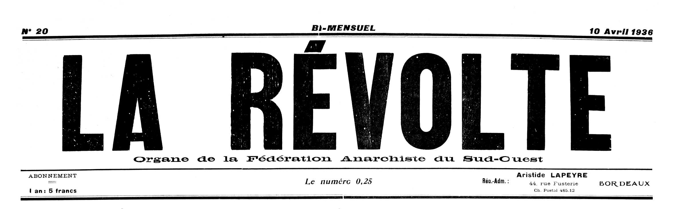 "Capçalera de ""La Révolte"""