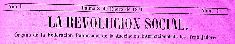 """Capçalera del primer número de """"La Revolución Social"""""""