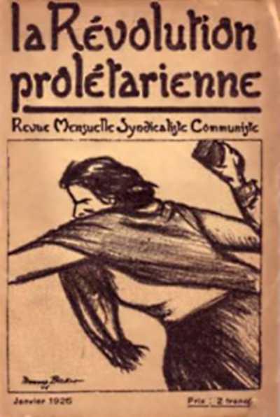 "Portada del primer número de ""La Révolution prolétarienne"""