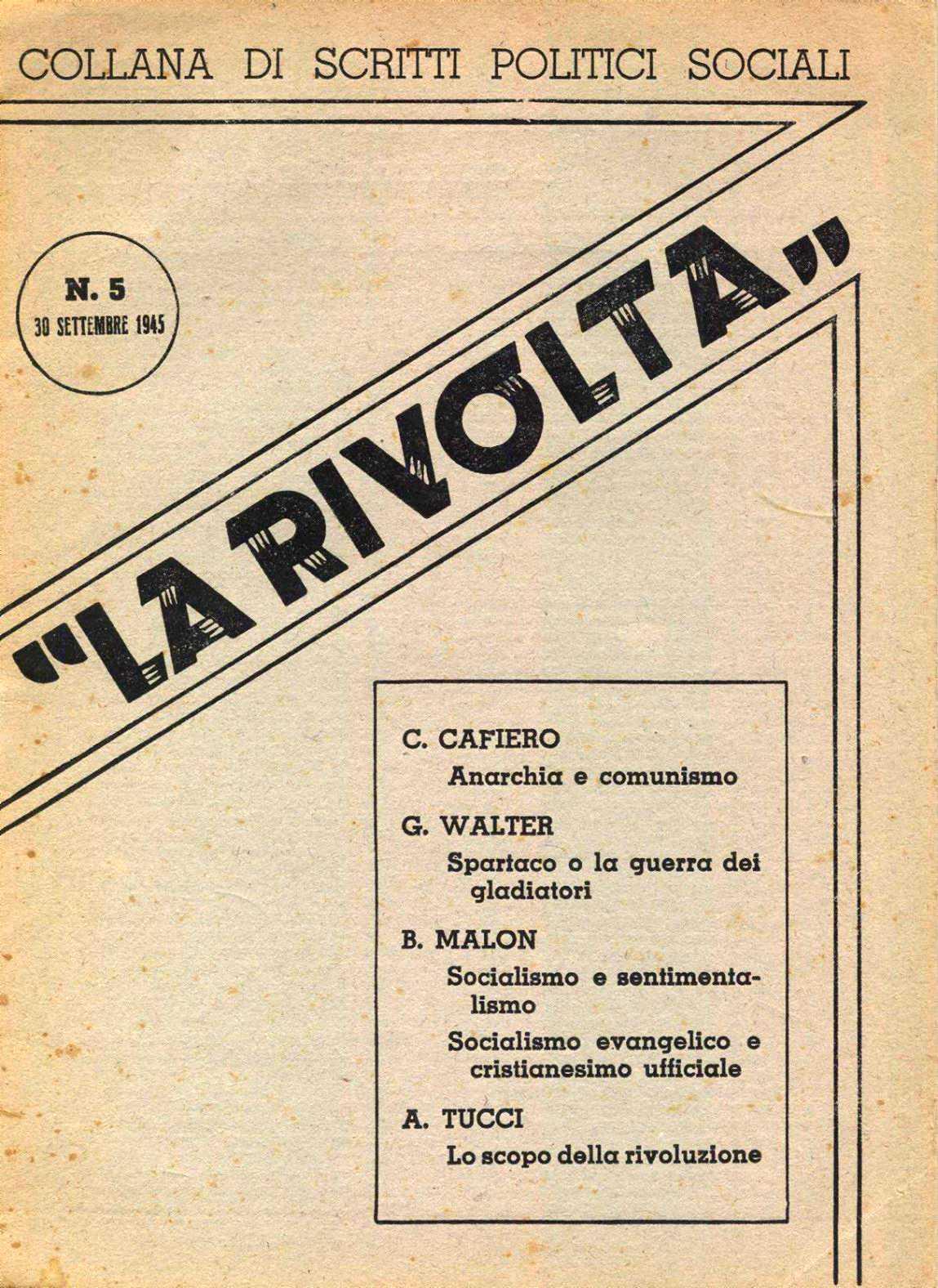"""Partada d'un número de """"La Rivolta"""""""
