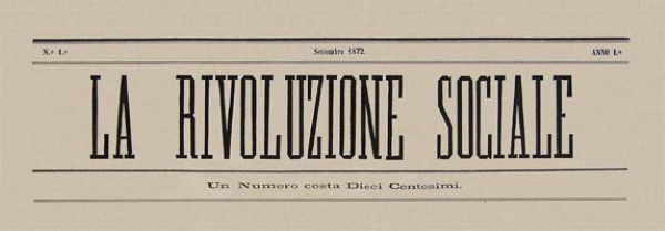 "Capçalera del primer número de ""La Rivoluzione Sociale"""