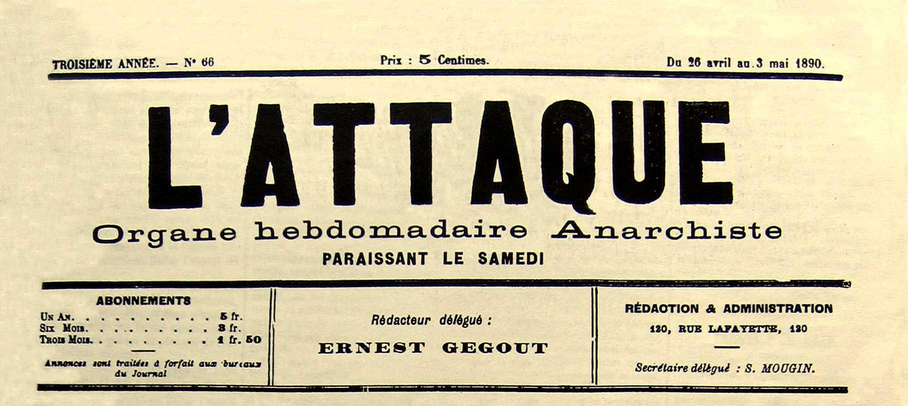 """Capçalera de """"L'Attaque"""" [CIRA-Lausana] Foto: Éric B. Coulaud"""