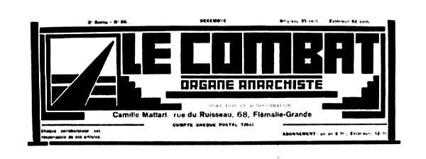 """Capçalera de """"Le Combat"""""""