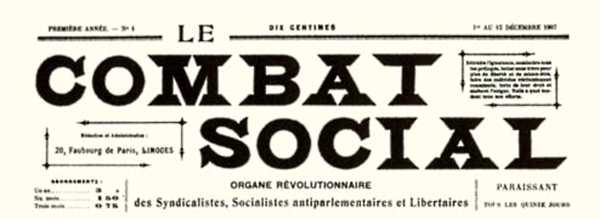 """""""Le Combat Social"""", periòdic del qual Durupt va ser gerent"""