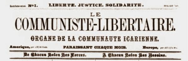 """Capçalera del primer número de """"Le Communiste-Libertaire"""""""