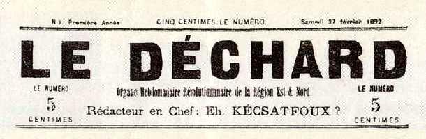 "Capçalera del primer número de ""Le Déchard"""