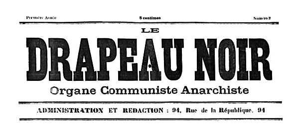 """Capçalera de """"Le Drapeau Noir"""""""