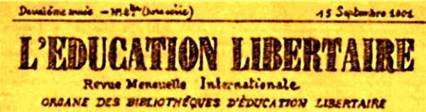 "Capçalera de ""L'Éducation Libertaire"""