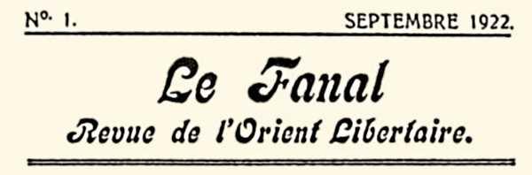 """Capçalera del primer número de """"Le Fanal"""""""