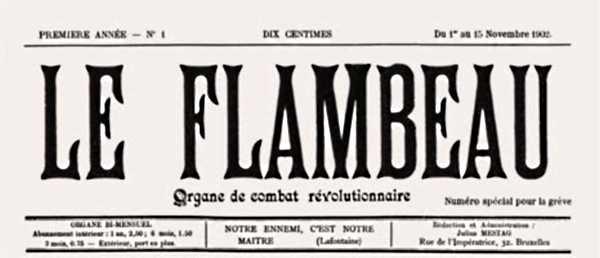 """Capçalera del primer número de """"Le Flambeau"""""""