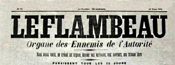 """Capçalera de """"Le Flambeau"""""""