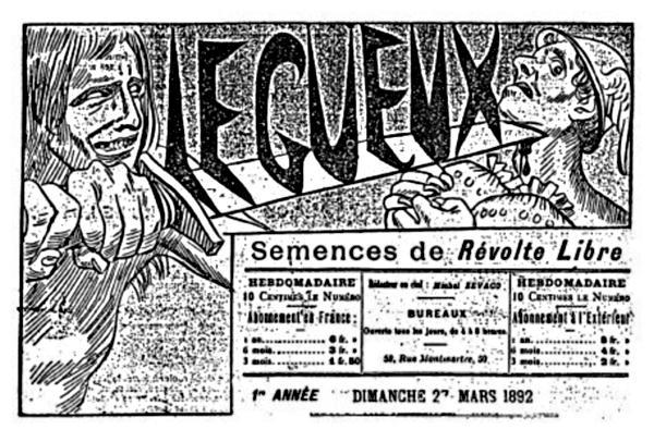 """Capçalera de """"Le Gueux"""""""
