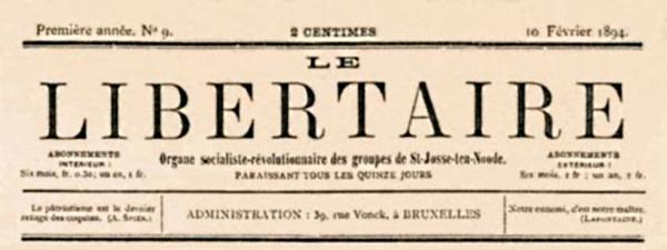 "Capçalera de ""Le Libertaire"""