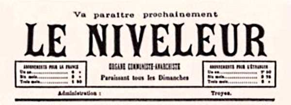 """Capçalera de """"Le Niveleur"""""""